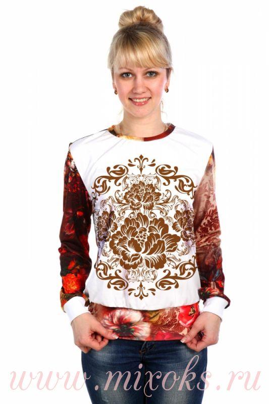 Блузка Гжель В Челябинске