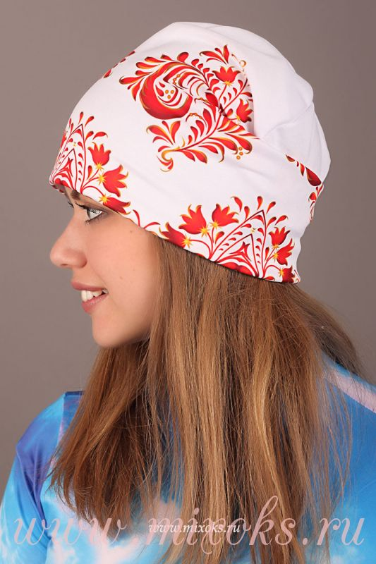 молодежные женские шапки